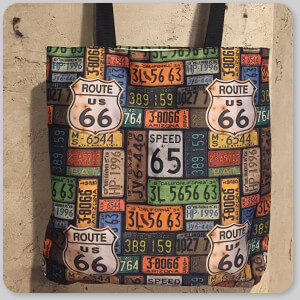 AllTypeSupply.com HAPPY CUSTOMER TESTIMONIAL Social Proof - Route 66 License Plates & Bricks - Canvas Tote Bags - 2 Designs