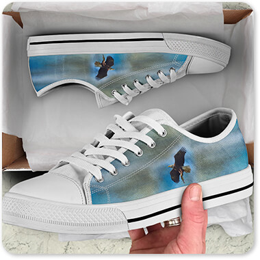 Bald Eagles Collection The Raptors Catch Classic High Low Top Canvas Men's Women's Shoes - EXPRESS DELIVERY!