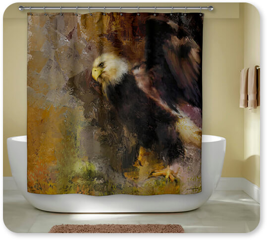 Bald Eagles Collection Eagle Dance - Bathroom Shower Curtain - EXPRESS DELIVERY!