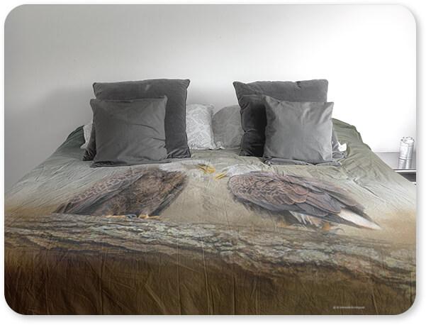 Bald Eagles Collection Duvet Bedding Set Cover Gray Pillows Quiet Conversation Bald Eagles