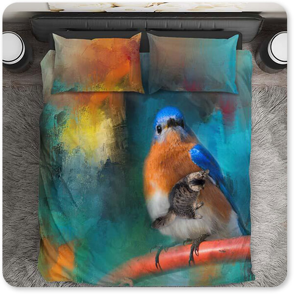 Birds Collection Lets Get This Party Started - Duvet Bedding Set