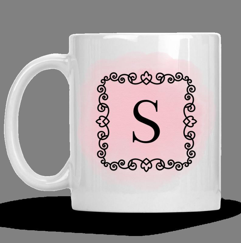 Personalised Luxurious Monogram Mug-
