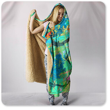 Birds Collection Finch Paradise - Hooded Blanket