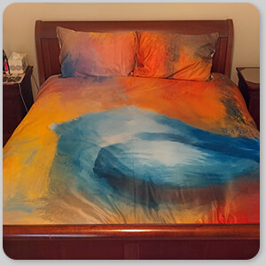 AllTypeSupply.com HAPPY CUSTOMER TESTIMONIAL Social Proof - Abstract Bluebird of Happiness - Duvet Bedding Set
