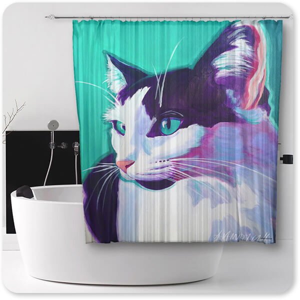 Cats Collection Cat Kitty - Bathroom Shower Curtain