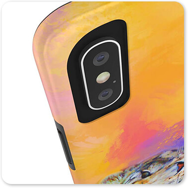 Colorful Expressions Collection Snow Leopard - Classic Slim Tough Cell Phone Case