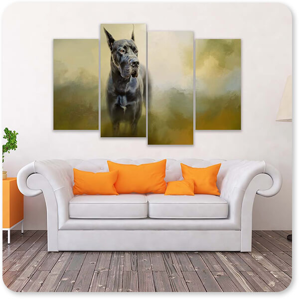 Dogs Collection Wistful Dane - Multi-piece Canvas Art - 3 Designs - EXPRESS DELIVERY!