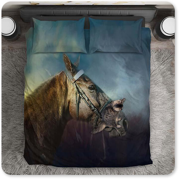 Horses Collection Waiting At Ringside - Duvet Bedding Set