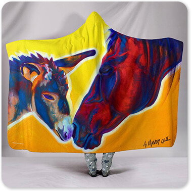 Horses Collection Horse Little Sister - Hooded Blanket