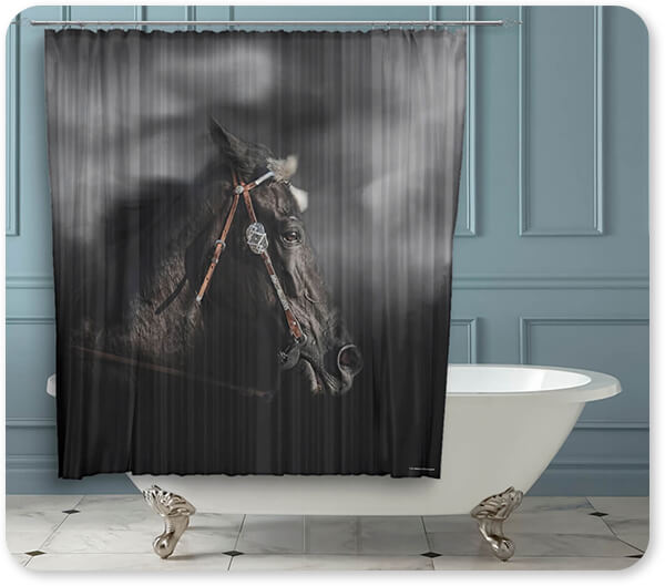 Horses Collection Let Me Run - Bathroom Shower Curtain - EXPRESS DELIVERY!