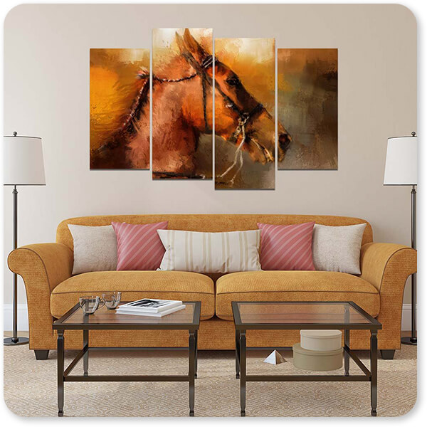 Horses Collection Tennessee Walker In August - Multi-piece Canvas Art - 3 Designs - EXPRESS DELIVERY!