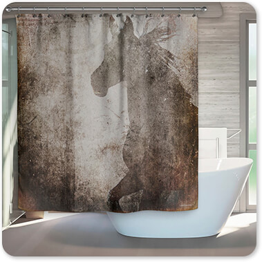 GypsyHorse Collection - Bathroom Shower Curtain v2.8 - EXPRESS DELIVERY!