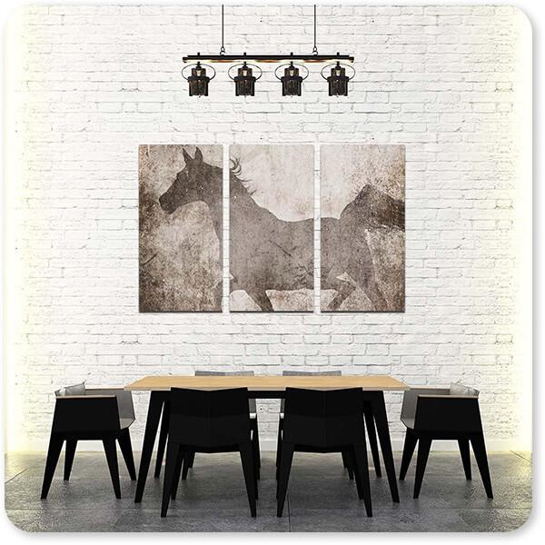 GypsyHorse Collection - 3 Piece Canvas Art v2.7 - EXPRESS DELIVERY!