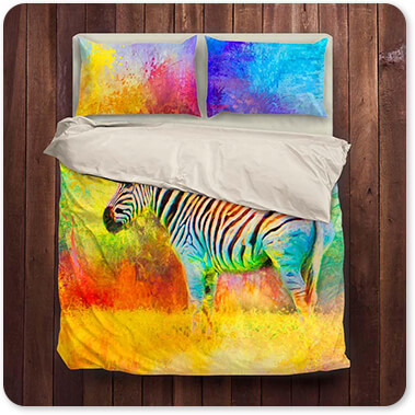 Jazzy Animal Collection Zebra - Duvet Bedding Set