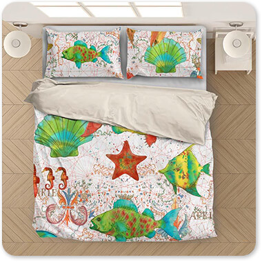 Nautical Treasures Sea Life - Duvet Bedding Set