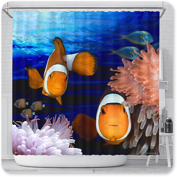 Sea Creatures Collection Clown Fish - Bathroom Shower Curtain - EXPRESS DELIVERY!
