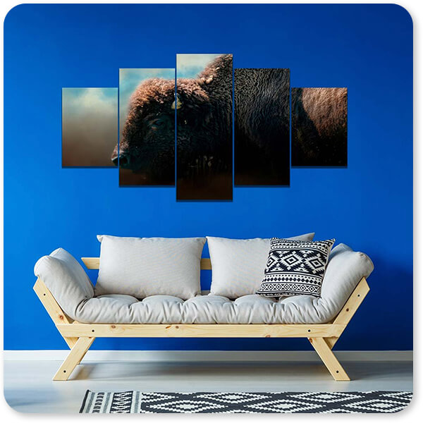 Wild Animals Collection American Bison After The Storm - Multi-piece Canvas Art - 3 Designs - EXPRESS DELIVERY!