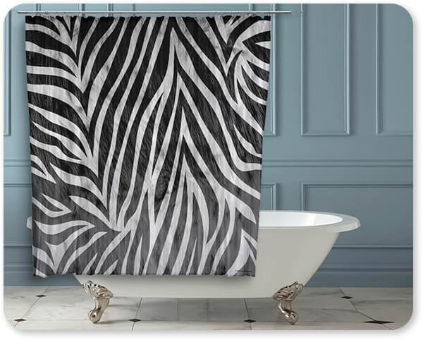 Animal Patterns Collection v1.15-B - Bathroom Shower Curtain - EXPRESS DELIVERY! Leopard, Tiger, Zebra, Cheetah, Snake print patterns