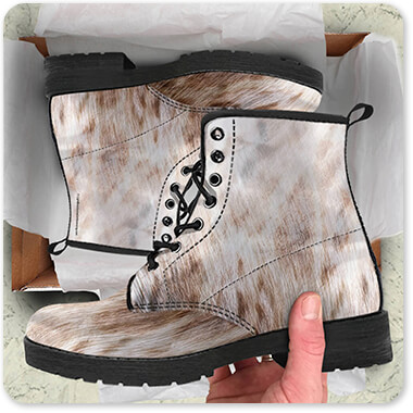 Animal Patterns Collection v1.9 Light - Men's Women's Leather Boots coming out of Brown Box - EXPRESS DELIVERY! Leopard, Tiger, Zebra, Cheetah, Snake print patterns