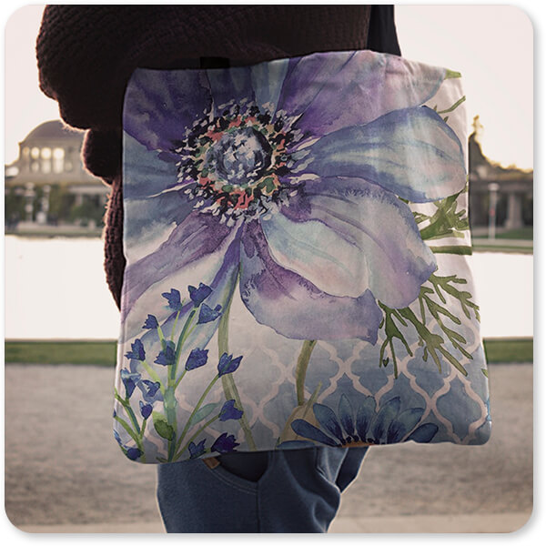 Floral Collection Flowers Sheila's Lovely Garden-A - Canvas Tote Bag