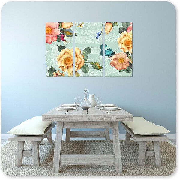Floral Collection Flowers Summer Gifts-C - Multi-piece Canvas Art - 7 Designs - EXPRESS DELIVERY!