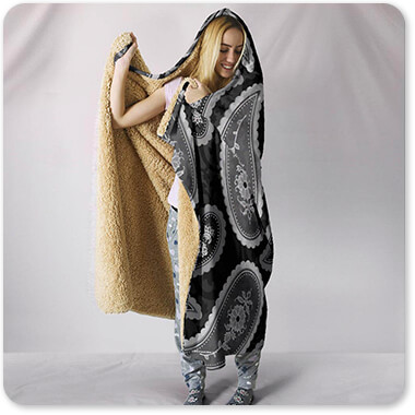 Patterns Collection Camo Paisley 4 v2 - Hooded Blanket
