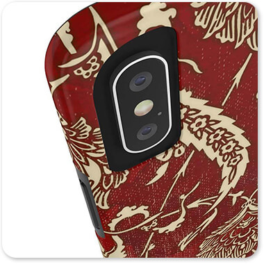 Patterns Collection Damask Rooster vI - Tough Cell Phone Case