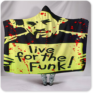 For the Funk Collection Live For The Funk - Hooded Blanket