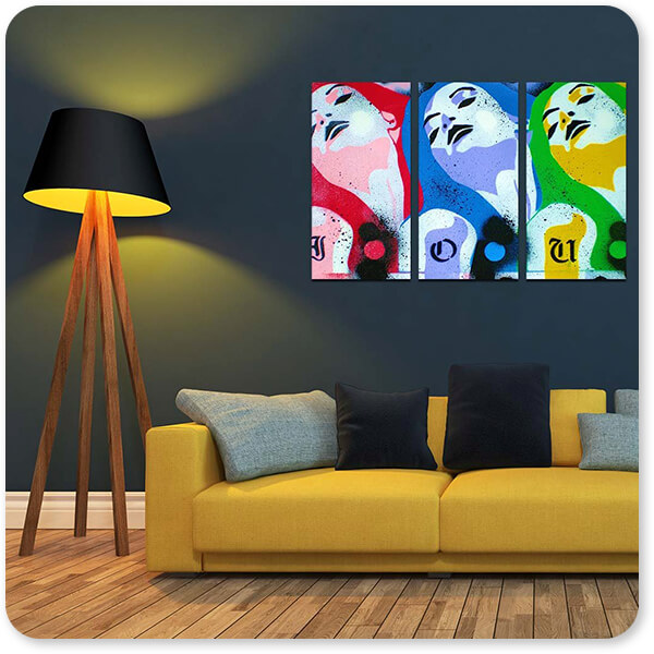 For the Funk Collection IOU - 3 Piece Canvas Art - EXPRESS DELIVERY!
