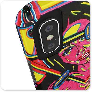 Retro Abstract and Faces Collection Pink Lady - Tough Cell Phone Case