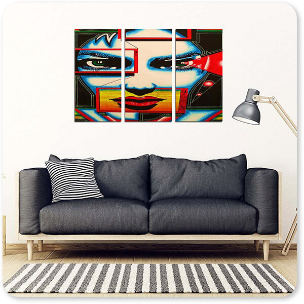 Retro Abstract and Faces Collection I'm Watching You - Multi-piece Canvas Art - 2 Designs - EXPRESS DELIVERY!