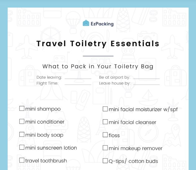 Travel toiletry essentials you can bring when traveling