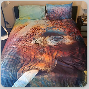 AllTypeSupply.com HAPPY CUSTOMER TESTIMONIAL Social Proof - Colorful Expressions Elephant - Duvet Bedding Set