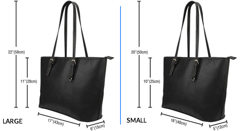 Sizing Measurement Chart Care Instructions - LARGE SMALL LEATHER TOTE BAGS