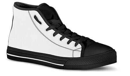 Classic Men's Women's High Top Canvas Shoe Sizing Chart - EXPRESS DELIVERY!