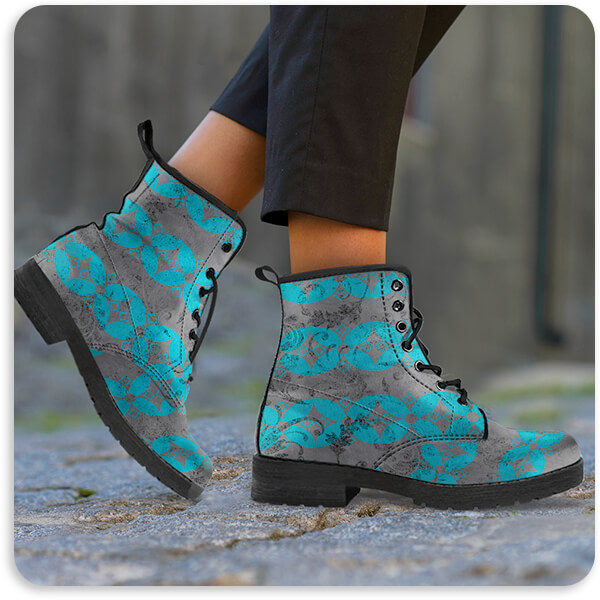 Men's Women's LightBoxJournal Gypsy Collection Surface Pattern v1.17 Leather Boots - EXPRESS DELIVERY!