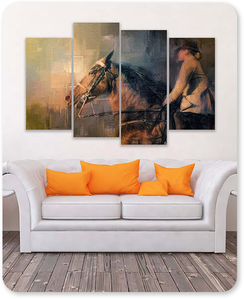 Into The Turn - 4 Piece Multi-piece Canvas Art