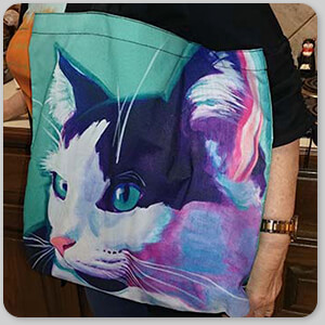 AllTypeSupply.com HAPPY CUSTOMER TESTIMONIAL Social Proof - Cat Kitty - Canvas Tote Bag