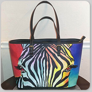 AllTypeSupply.com HAPPY CUSTOMER TESTIMONIAL Social Proof - Zebra - Large Leather Tote Bag - EXPRESS DELIVERY!