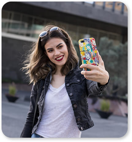 Classic Cell Phone Case Catalog Featuring L.A. Woman Taking a Cool Selfie with Cell Phone Samsung iPhone Mobile Case