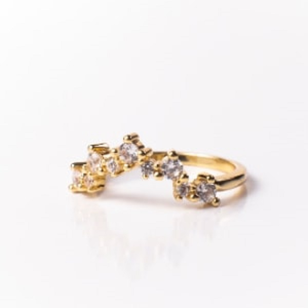 Valerie Stack Ring 18K Gold Vermeil