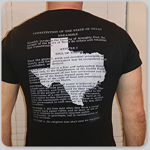 AllTypeSupply.com HAPPY CUSTOMER TESTIMONIAL Social Proof - Texas State Flag and Constitution - Men's Women's Long Sleeve Youth Double-sided Black T-Shirt