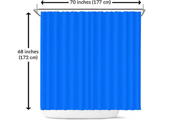 Sizing Measurement Chart Care Instructions Bathroom Shower Curtains EXPRESS DELIVERY!