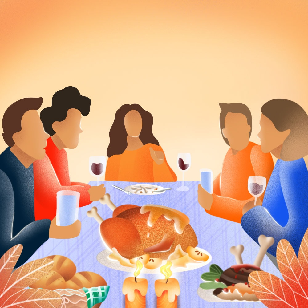 It is possible to enjoy Thanksgiving meal without feeling tired or sleepy.