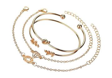 Bohemian Glam Gold Bracelets Stack