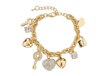 Love Locked Gold Charm Bracelet