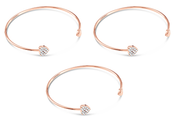 Heart to Heart Open Bangle