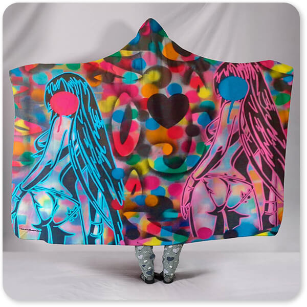 Abstract Graffiti Artist Collection Manga - Hooded Blanket