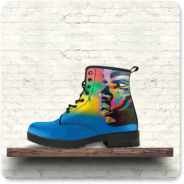 For the Funk Collection Kiss Series 2 Rainbow - Men's Women's Faux Leather Boots - EXPRESS DELIVERY!
