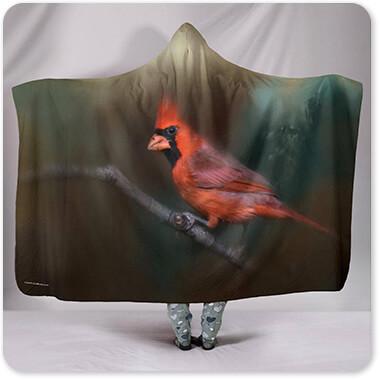 Jai Johnson Artist Collection A Splash of Red - Hooded Blanket